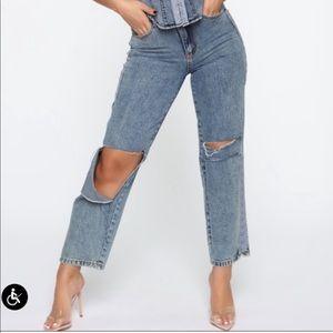 Baggy fit vintage inspired fashion nova jeans